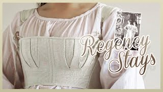 Making Regency Short Stays By Hand | Linen, Corset-making, And Backstitching