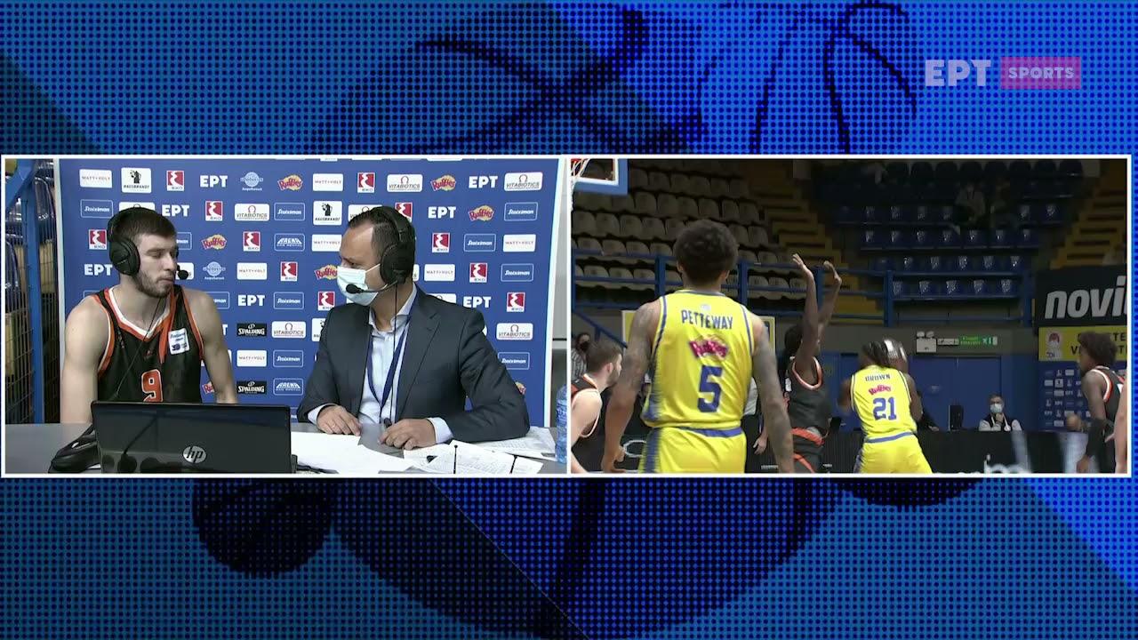 Basket League | Ν.Ρογκαβόπουλος: Παίξαμε καθαρά στην επίθεση και κτίστηκε η διαφορά | 02/10/21 | ΕΡΤ