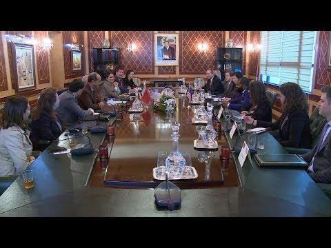 العرب اليوم - شاهد:وفد عن المجلس الأميركي للقادة السياسيين الشباب يزور مجلس المستشارين
