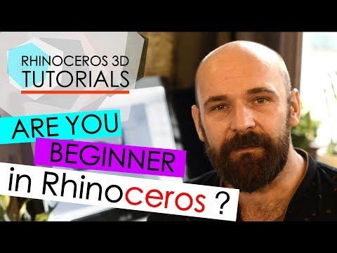 RHINO TUTORIALS FOR BEGINNERS - YouTube