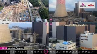 """Multimedialna kartka z kalendarza: """"RAFAKO SA buduje blok 910MW w Jaworznie - sierpień 2018"""""""