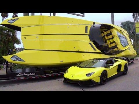 Lamborghini Aventador Speedboat Lamborghini Supercar Aventador