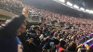 Gillette Stadium crowd reacts to New England Patriots taking late lead in AFC Championship Game