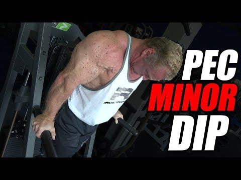 Exercise Index - Pec Minor Dip | Chest Exercise