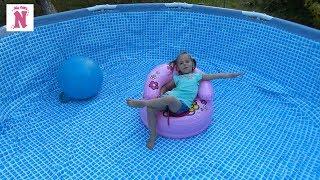 БАССЕЙН каркасный бассейн для всей семьи Игры и развлечения для детей Swimming pool for children