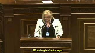Аурелия Григориу Аурелия Григориу в армянском Парламенте (Eng  Subtitles) Aurelia Grigoriu