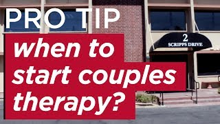 When Should You Start Couples Therapy?