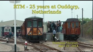 RTM TRAMWAY MUSEUM 25 years at Ouddorp, Netherlands