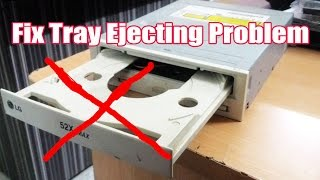 How to fix a DVD drive's tray that doesn't open or eject