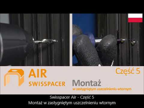 SWISSPACER AIR - Montaż po uszczelnieniu pakietu  z zastygniętym uszczelnieniem wtórnym