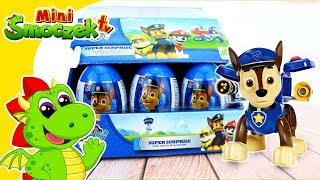 Psi Patrol - Chase Otwiera Dużo Jajek! Jajka Niespodzianki Zabawki Bajki Dla Dzieci Po Polsku