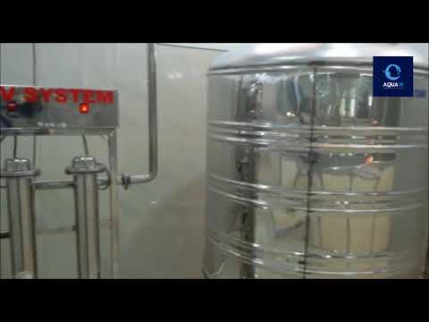 2000 LPH SS Mineral Water Reverse Osmosis Plant