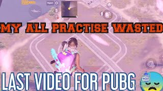 PUBG BANED SAD WHATSAPP STATUS MY ALL PRACTISE WASTE LAST VIDEO FOREVER FOR PUBG😓😓😓