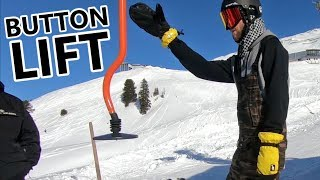#46 Snowboard begginer – How to ride a button lift