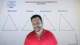 Pontos Notáveis de um Triângulo (Resumão) | Waldemática