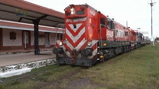 preview picture of video 'Tren de FEPSA adelantando a otro en General Pico'