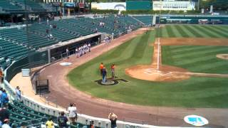 Darin Adcock at Fresno Grizzlies National Anthem.3gp