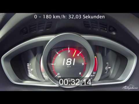 2017 Volvo V40 D3 Facelift (150 hp): Acceleration 0 - 180+ kph / 0 - 110+ mph - Autophorie