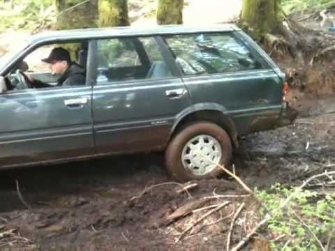 Subaru GL 4WD in Capitol Forest