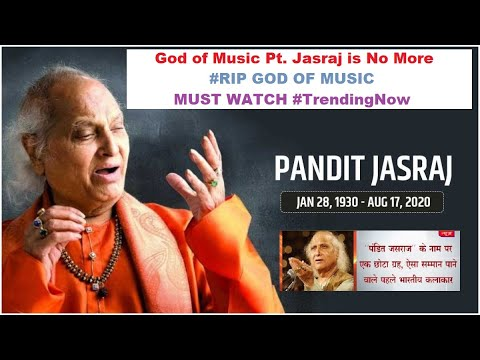 Music legend Pandit Jasraj passes away at 90 Indian classical vocalist Pandit Jasraj passed