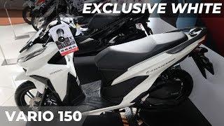 Tampil Elegan, Honda Vario 150 Exclusive White 2019