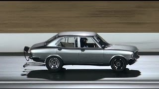 SDR MOTORSPORT MAZDA RX2 9.68 @ 136 MPH FULL THROTTLE FRIDAY SYDNEY DRAGWAY 25.10.2013