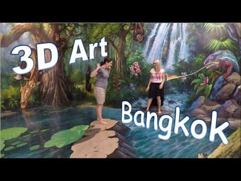 Drie-dimensionele kunsmuseum Bangkok