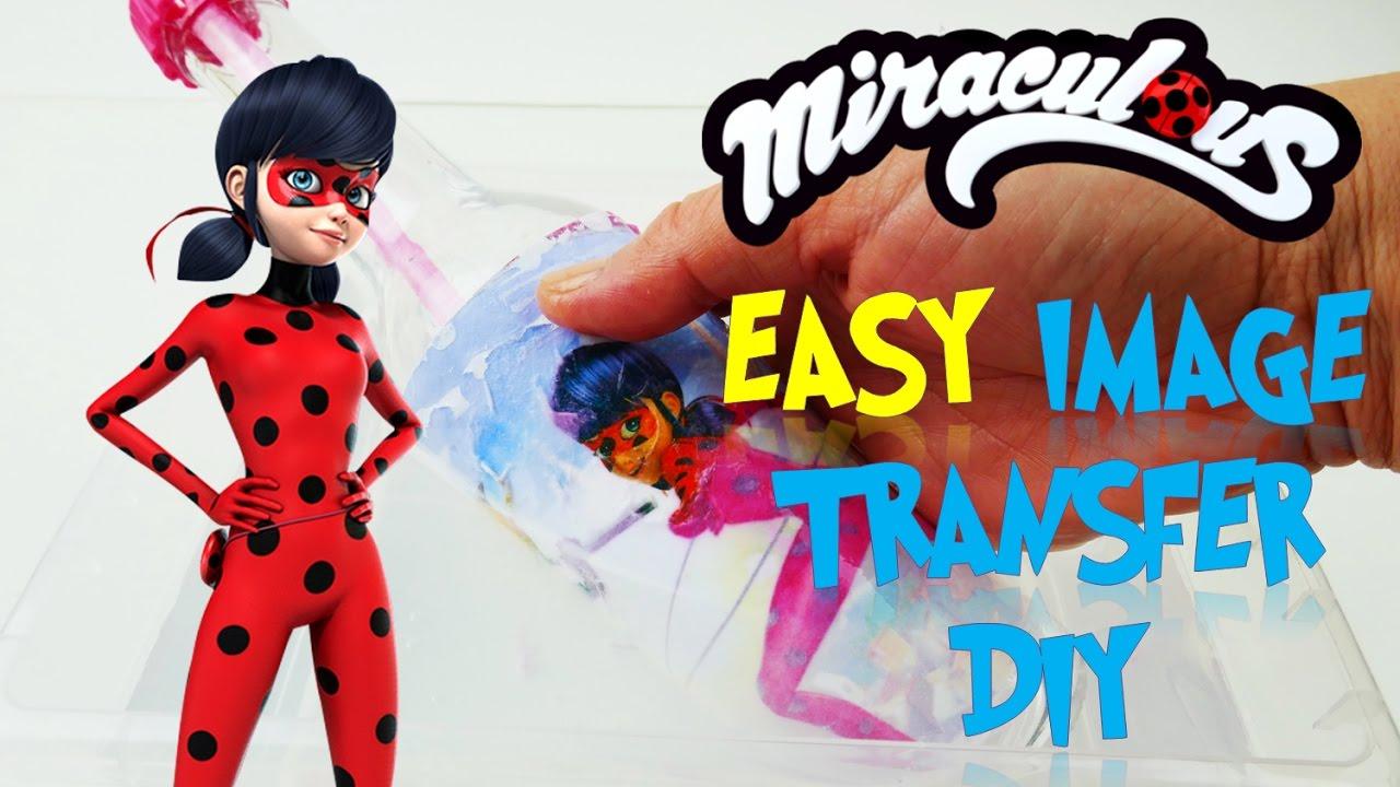 Miraculous Ladybug Easy Photo Image Transfer Mod Podge DIY | Evies Toy House