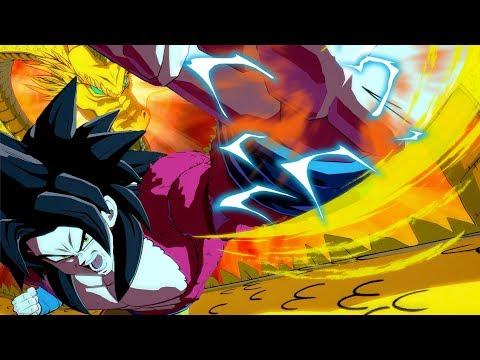 Super Saiyan 4 DRAGON FIST! *NEW* GT Kid Goku DLC Gameplay in Dragon Ball FighterZ