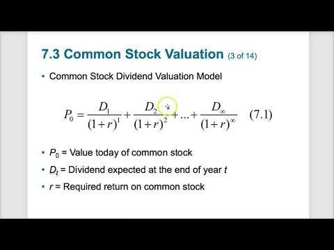 Chapter 7 - Stock Valuation