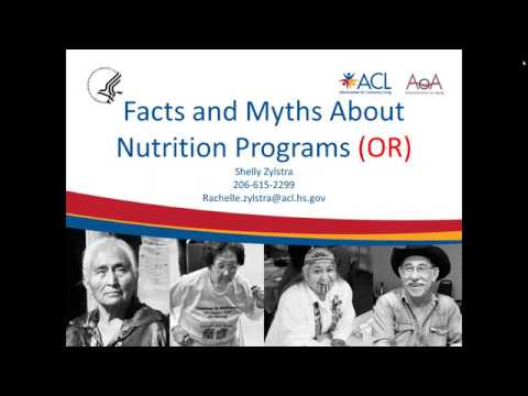 Facts & Myths about OAA Nutrition Programs 1/10/2018
