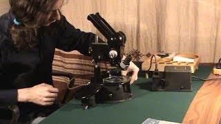 Обзор раритетного микроскопа МБС-1 1954!