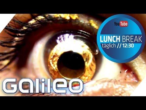 Bling Bling für die Augen: Kontaktlinsen aus Gold | Galileo Lunch Break