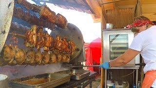 Huge Rotisserie, Juicy Blocks of Grilled Meat and more. Huge Italian Street Food Festival