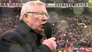Сэр Алекс Фергюсон прощается с футболом и Манчестер Юнайтед на стадионе Олд Траффорд
