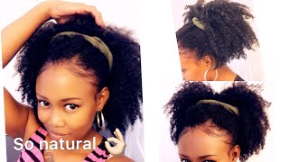 EASY NATURAL CROCHET  BRAIDS WITH MARLEY HAIR 4c, 4b Hair