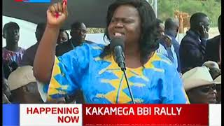 Gladys Wanga calls for gender equality in all leadership positions | KAKAMEGA BBI RALLY
