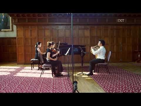 Performance of the first movement of the Brahms Trio at the Philadelphia International Music Festival