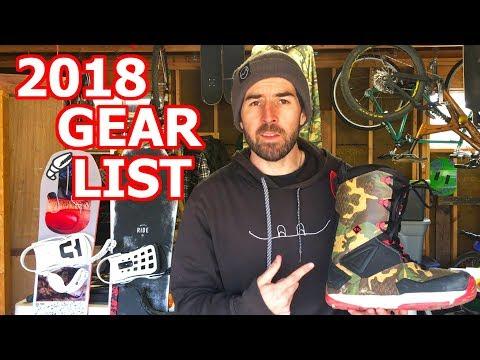 TJ's Snowboard Gear List for 2017/2018