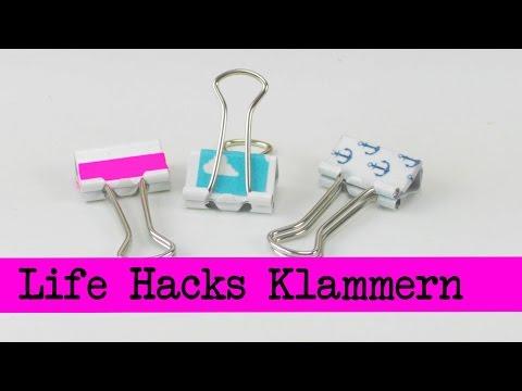 Life Hacks Top 5:Klammern / Nützliche Ideen mit Flügelklammern / Klammern / Life Hacks