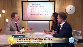 3 Steg - Så Får Du Skatteåterbäringen Till Påsk - Nyhetsmorgon (TV4)