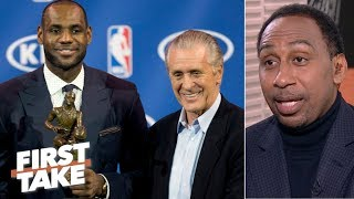 Pat Riley to the Lakers rumors are picking up steam – Stephen A. | First Take