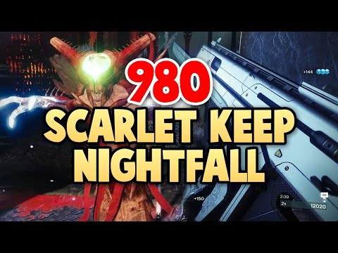 Destiny 2 Nightfall: The Ordeal 980 Master Difficulty Clear & One Phase Boss - The Scarlet Keep