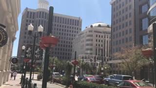 Пешком по центру Орландо Флорида США 03.2017 города Америки Downtown Orlando FL