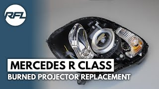 Mercedes R class burned Hella Bi-xenon projector, EvoX R projector replacement
