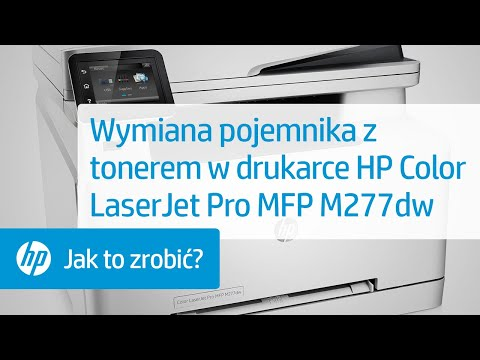 Wymiana pojemnika z tonerem w drukarce HP Color LaserJet Pro MFP M277dw