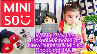 Miniso Shopping Haul NEW PLANTERS AND My Plant Addiction,Broken MACBOOK REPAIR SuperPrincessjo Vlogs