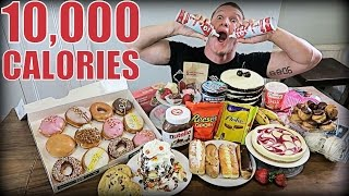 10,000 CALORIE DESSERT CHALLENGE!! Food Challenge Cheat Day
