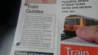 Greater Manchester railway timetables 1985 part 1