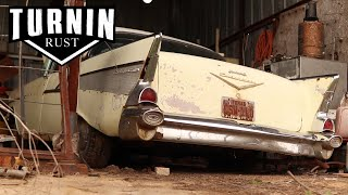1957 Chevy Bel Air Barn Find Leads Into Abandoned Honey Hole | Turnin Rust